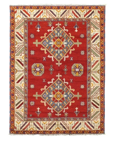 """Hand-Knotted Royal Kazak Rug, Red, 5' 9"""" x 8'"""