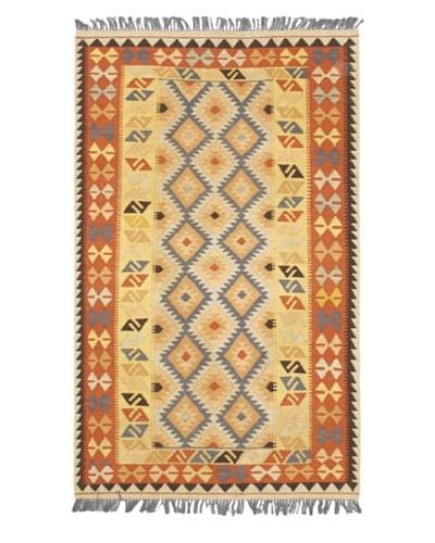 Hereke Kilim Traditional Kilim, Light Gold, 4' x 6' 8