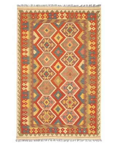 Izmir Kilim Transitional Kilim, Red, 5' 5 x 8' 8
