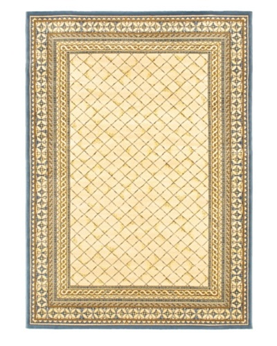 Royale Rug, Ivory/Pale Dull Blue, 5' 3 x 7' 6