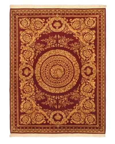 """Hand-Knotted Sino Persian Wool Rug, Cream/Light Burgundy, 9' 1"""" x 12' 1"""""""