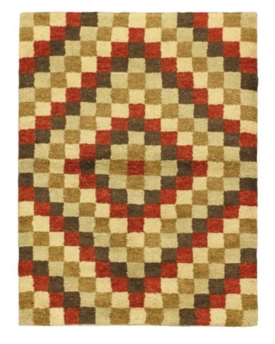 """Hand-Knotted Marrakech Rug, Beige/Brown/Green/Orange, 4' 7"""" x 6' 3"""""""