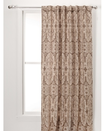 Damask Print On Linen Lined Pane