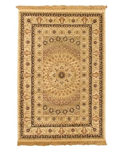Isfahan Kashmir Traditional Rug, Beige, 5' 2 x 7' 7