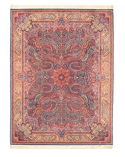 Hand-Knotted Sino Persian Wool Rug, Dark Pink, 9' x 12' 4