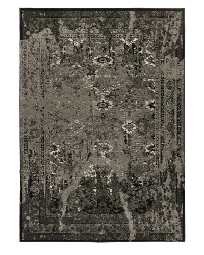 "Wash Area Rug, Black, 5' 5"" x 7' 8"""
