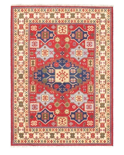 Hand-Knotted Royal Kazak Rug, Red, 5' 9 x 7' 11