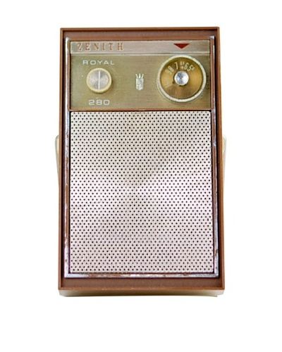 Vintage Zenith Radio, Brown/Black/White