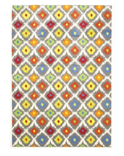 Chroma Area Rug, Blue/Red/White, 5' 6 x 7' 9