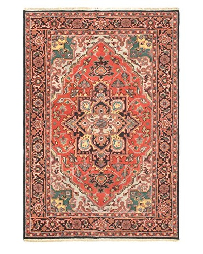 Hand-Knotted Heriz Select Wool Rug, Copper, 6' x 9'