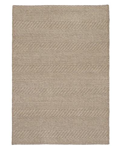 "Handmade Impressions Braid Modern Wool Rug, Pink, 4' 7"" x 6' 5"""