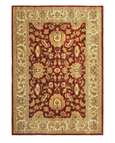 Lotus Garden Traditional Rug, Dark Copper, 6' 7 x 9' 6