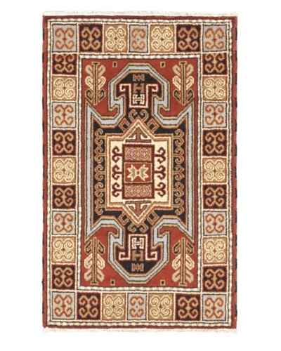 Hand-Knotted Royal Kazak Rug, Copper, 3' x 4' 10