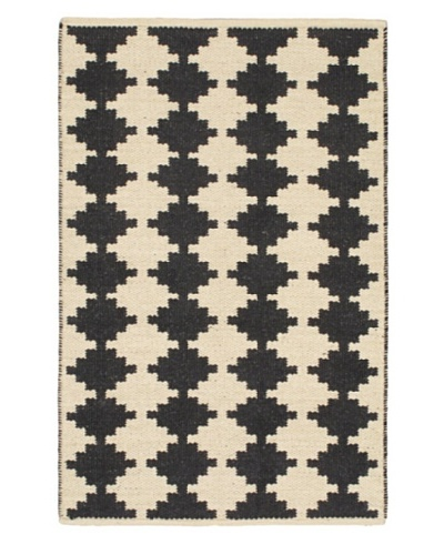 Natural Plush Modern Kilim, Blue/Red/White 3' 7 x 5' 5