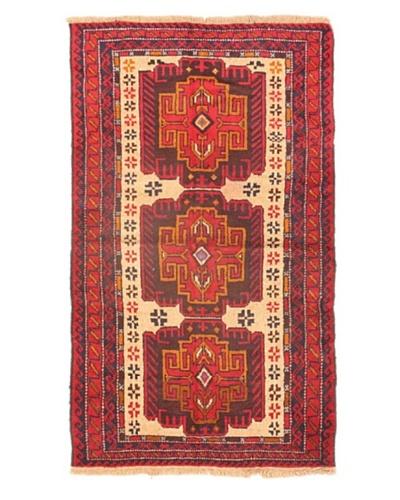 "Herati Traditional Wool Rug, Dark Red, 3' 10"" x 6' 6"""