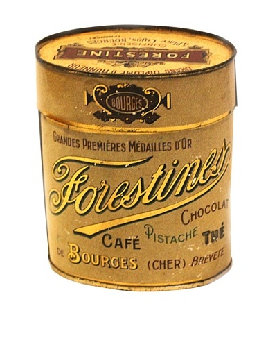 Vintage Forestine Chocolat Pistache The Tin, Cream/Gold/Brown