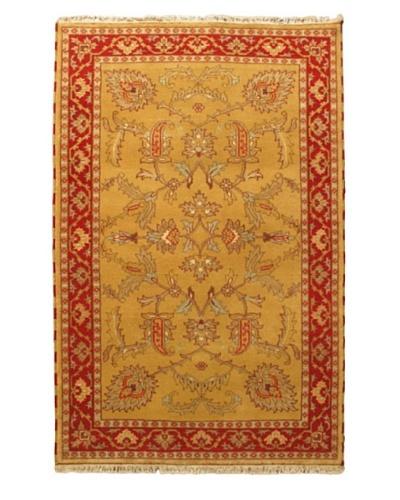Hand-Knotted Royal Kazak Rug, Orange/Yellow, 5' x 7' 8