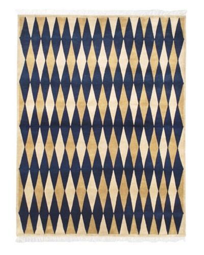 Hand-Knotted Aurora Rug, Navy, 5' 7 x 7' 5