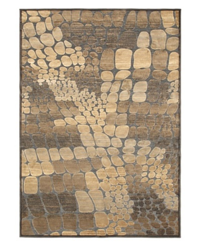 Pebbles Rug, Black/Yellow/Khaki, 5' 3 x 7' 7