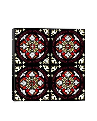 Blood Royalty Stained Glass Quadric Giclée On Canvas