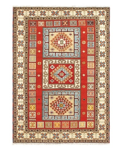 """Hand-Knotted Royal Kazak Wool Rug, Red, 5' 7"""" x 7' 10"""""""