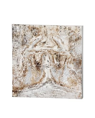 Kenisis II, Cream/Grey, 35 x 35