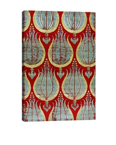 Ottoman Tulips, Silk & Silver Lamella Textile Photographic Art Print