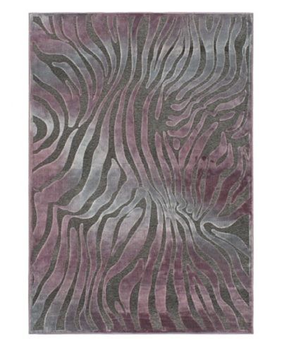 Kenya Rug, Gray/Purple, 5' 2 x 7' 5
