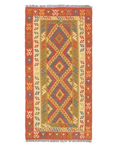 "Hand Woven Anatolian Wool Kilim, Dark Copper, 3' 5"" x 6' 10"""