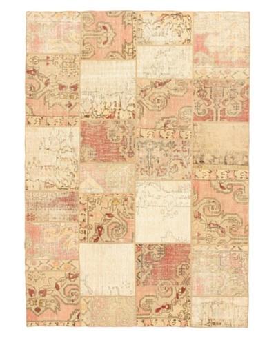 Handmade Ottoman Yama Patchwork Transitional Rug, Cream, 6' 10 x 9' 6