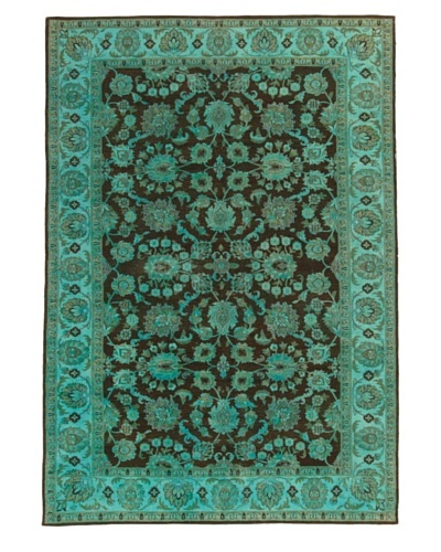 Silk Hand-Knotted Ikat Rug [Turquoise Multi]
