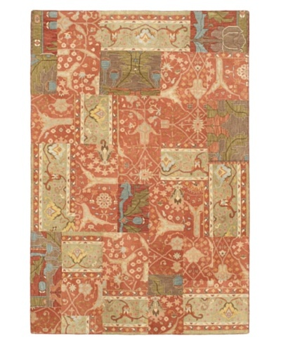 """Hand-Knotted Antiqua Casual Rug, Copper, 5' 11"""" x 8' 10"""""""