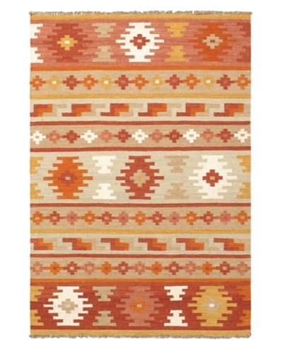 Izmir Kilim Traditional Kilim, Brown/Orange, 4' 2 x 6'