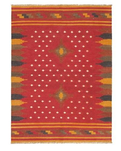 Izmir Kilim Traditional Kilim, Dark Red, 4' 8 x 6' 5