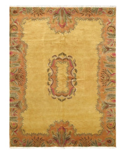 Hand-Knotted Transitional Rug, Light Gold, 8' x 10' 8