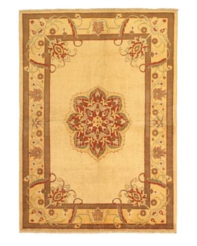 Hand-Knotted Chobi Oriental Rug, Beige, 5' 2 x 7' 4
