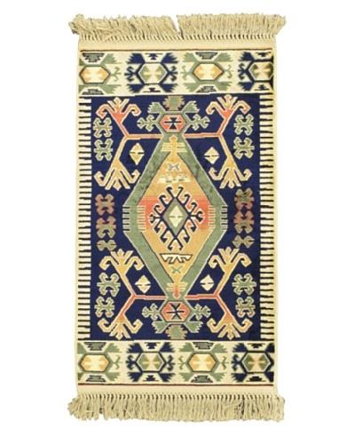 "Persian Rug, Navy, 2' x 3' 3"""
