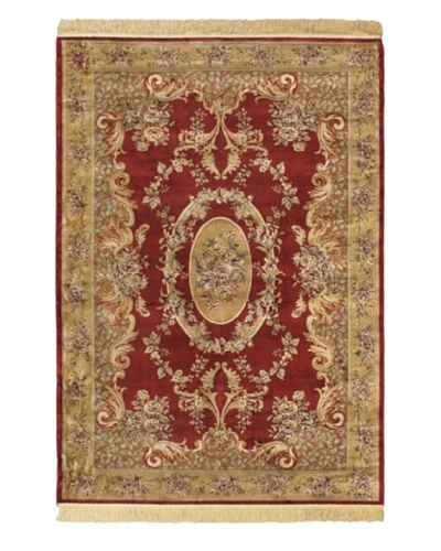 Persian Rug, Dark Red/Light Brown, 4' 7 x 6' 7