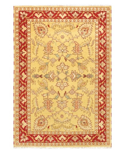 Hand-Knotted Royal Kazak Rug, Light Gold, 5' 1 x 7' 6