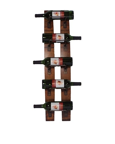 2 Day Designs 5 Bottle Wall Rack