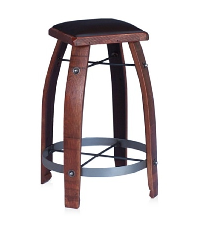 2 Day Designs Leather Stool [Chocolate]