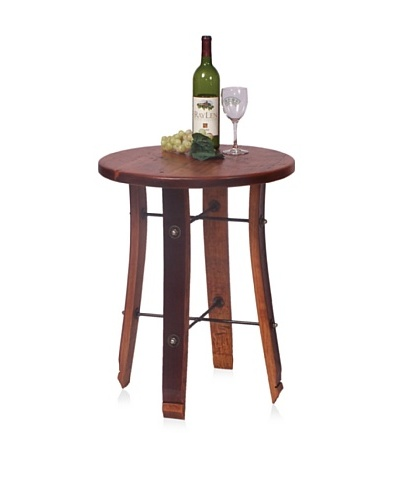 2 Day Designs Round Stave End Table