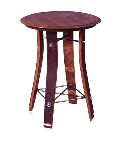 2 Day Designs Barrel Top Side Table