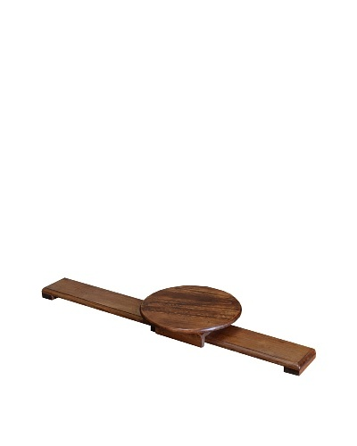 2 Day Designs Sliding Lazy Susan, Pine