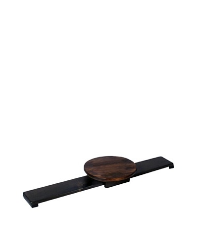 2 Day Designs Sliding Lazy Susan, Caramel/Noir