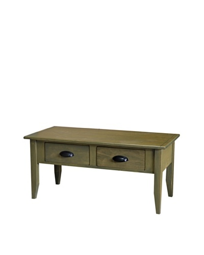 2 Day Designs Jefferson Coffee Table, Fern