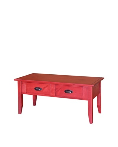 2 Day Designs Jefferson Coffee Table, Rouge