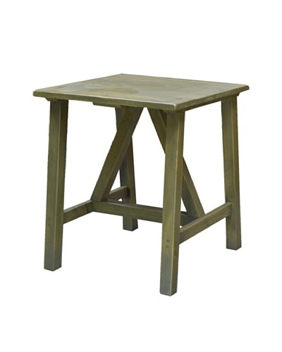 2 Day Designs Pine Creek End Table, Fern