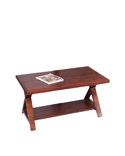 2 Day Designs Traversa Coffee Table, Pine