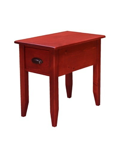 2 Day Designs Jefferson Side Table, Rouge
